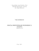 Značaj bihevioralne ekonomije u svijetu